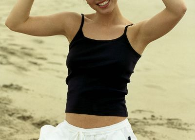 sand, Eliza Dushku - related desktop wallpaper