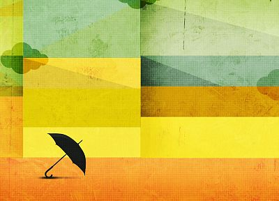 abstract, minimalistic, umbrellas - desktop wallpaper