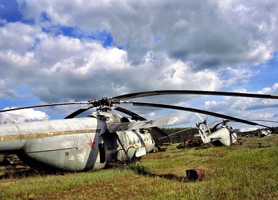 helicopters, Pripyat, Chernobyl, vehicles, cemetery, radiation, Mi-6 - related desktop wallpaper