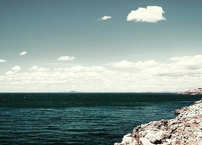 water, clouds, coast - related desktop wallpaper