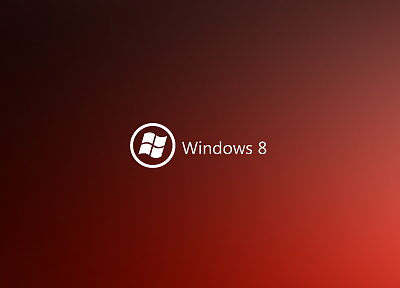 minimalistic, red, DeviantART, Windows 8 - related desktop wallpaper