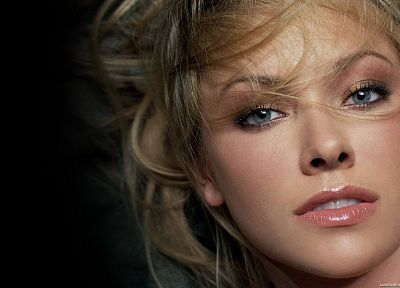 blondes, women, blue eyes, Kristanna Loken, faces - desktop wallpaper