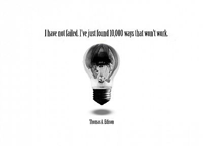 quotes, Thomas Edison - random desktop wallpaper