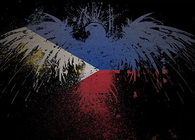 eagles, flags, Philippines - random desktop wallpaper