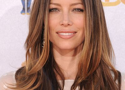 Jessica Biel, green eyes, MTV - random desktop wallpaper