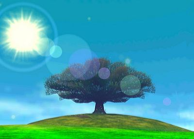 lens flare, Majora's mask moon tree, The Legend of Zelda: Majoras Mask, Surface of the Moon (The Legend of Zelda: Majora's Mask) - desktop wallpaper