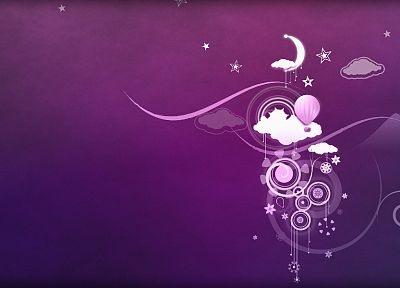 abstract, Moon, purple, dreamy - desktop wallpaper