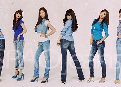 women, jeans, Girls Generation SNSD, celebrity, high heels, Seohyun, singers, Kwon Yuri, Im YoonA, Kim Hyoyeon, Choi Sooyoung, Tiffany Hwang - related desktop wallpaper