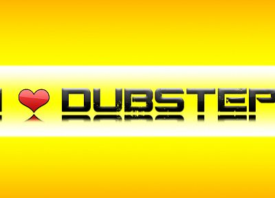 yellow, dubstep, hearts - desktop wallpaper