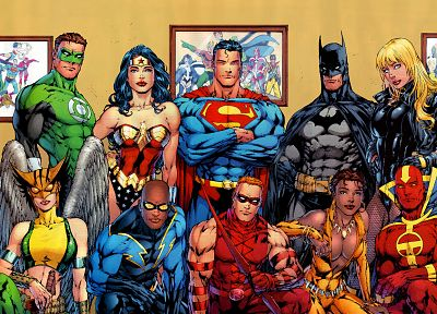 Green Lantern, Batman, DC Comics, Superman, superheroes, Justice League, Red Arrow, Wonder Woman - random desktop wallpaper