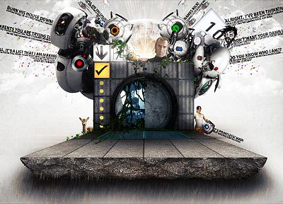 GLaDOS, Chell, Portal 2 - related desktop wallpaper