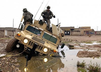 war, military, dirt, mud, Humvee - desktop wallpaper