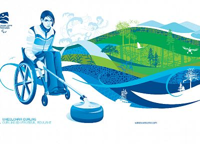 Canada, Vancouver, handicapped, curling, Olympics, artwork - related desktop wallpaper