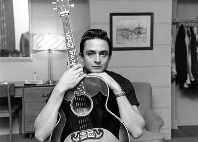 guitars, Johnny Cash - random desktop wallpaper