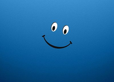 smiley face, smiling, blue smile - random desktop wallpaper