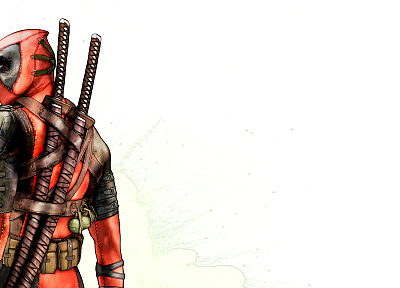 Deadpool Wade Wilson, Marvel Comics, simple background - related desktop wallpaper