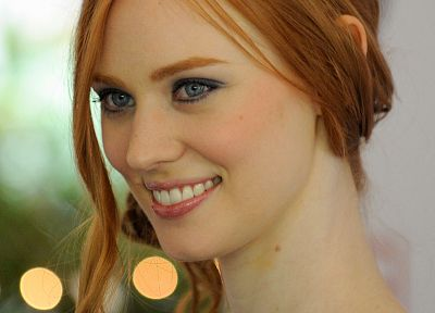 women, redheads, Deborah Ann Woll, smiling, faces - related desktop wallpaper