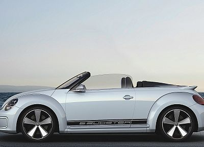 white, cars, concept art, Volkswagen Beetle - random desktop wallpaper