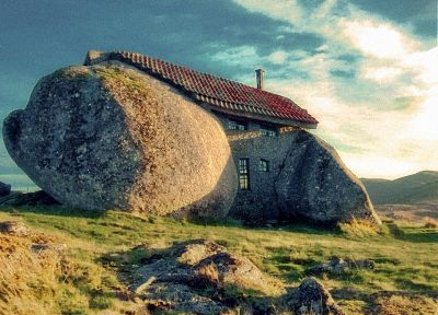 landscapes, houses, rocks, stones - random desktop wallpaper