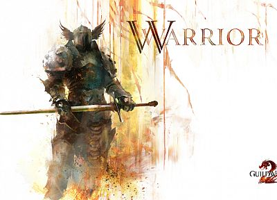 knights, weapons, Guild Wars, armor, artwork, warriors, Guild Wars 2, swords - random desktop wallpaper