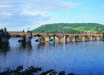 bridges, Prague, Czech Republic, rivers - random desktop wallpaper