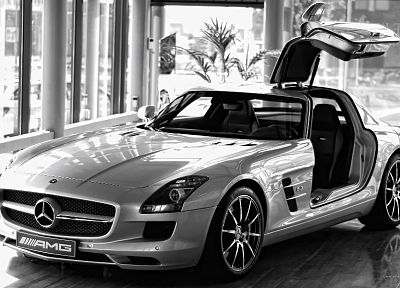 cars, Mercedes-Benz, Mercedes-Benz SLS AMG E-Cell - random desktop wallpaper