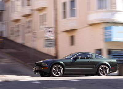 cars, Ford, vehicles, Ford Mustang, side view, Ford Mustang Bullitt - random desktop wallpaper