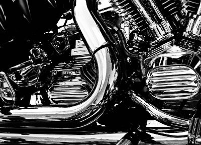 silver, chrome, vehicles, motorbikes - random desktop wallpaper