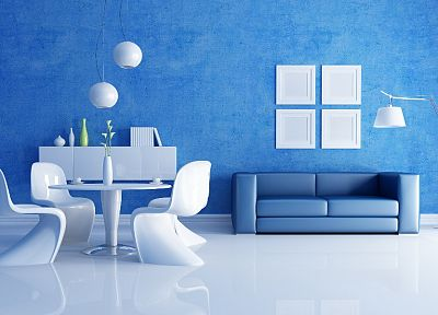 blue, design, interior - random desktop wallpaper