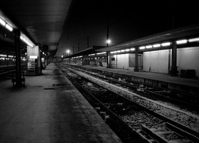 train stations, grayscale, vending machines - desktop wallpaper
