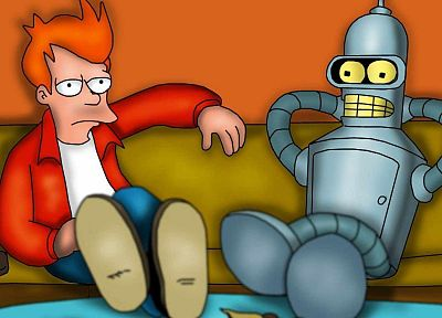 Futurama, Bender, couch, Philip J. Fry - related desktop wallpaper