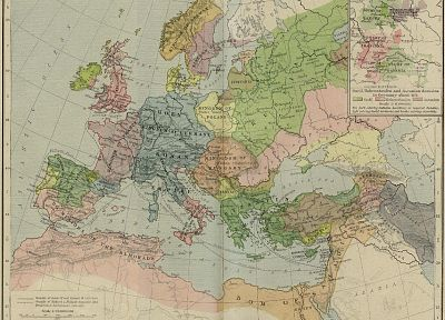 Europe, maps, medieval - desktop wallpaper
