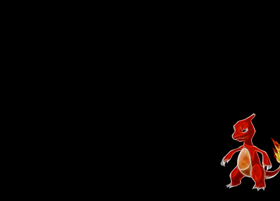 Pokemon, Fractalius, Charmeleon, simple background, black background - related desktop wallpaper