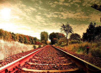 nature, railroad tracks - random desktop wallpaper