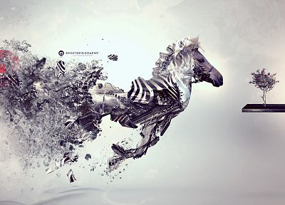 abstract, zebras, Desktopography - related desktop wallpaper