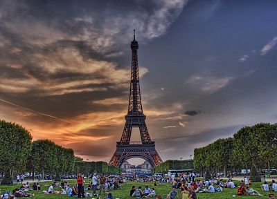Eiffel Tower, Paris, France, HDR photography, Champ de Mars - random desktop wallpaper