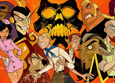 Molotov Cocktease, The Venture Bros., The Monarch, Hank Venture, Dean Venture, Dr. Girlfriend, Brock Samson, Dr. Orpheus, Dr. Venture, H.E.L.P.eR, Phantom Limb, Triana Orpheus - random desktop wallpaper