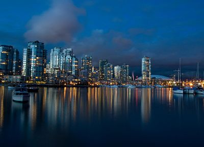 water, coast, skylines, architecture, ships, buildings, Vancouver, vehicles - related desktop wallpaper