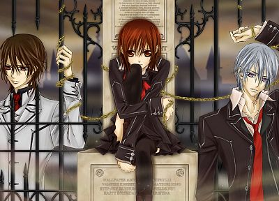 vampires, Vampire Knight, anime, Yuki Cross, Zero Kiryu - random desktop wallpaper