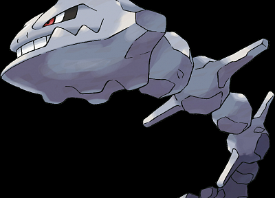 Pokemon, Steelix, black background - desktop wallpaper