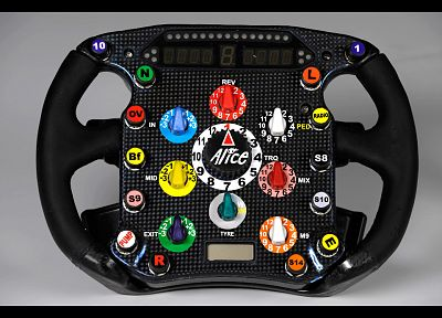 Ferrari, Formula One, racing, steering wheel - random desktop wallpaper