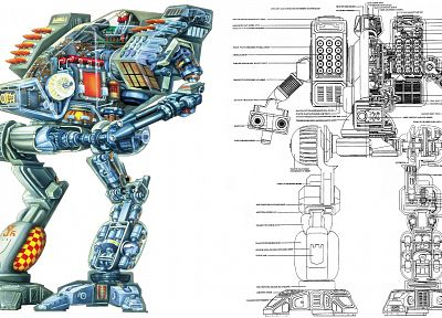 MechWarrior, schematic - random desktop wallpaper