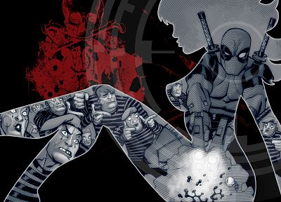 silhouettes, Deadpool Wade Wilson, Marvel Comics - random desktop wallpaper