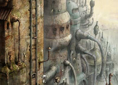 steampunk, Machinarium - desktop wallpaper