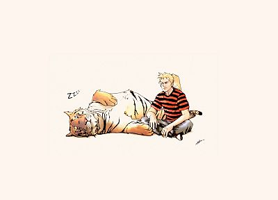 Calvin and Hobbes, alternative art, drawings - related desktop wallpaper