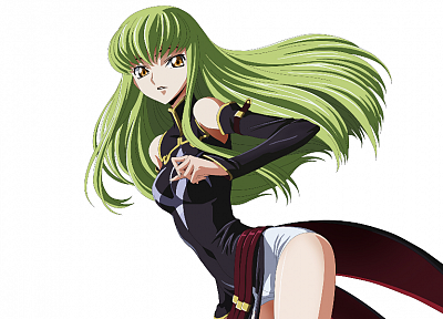 Code Geass, green hair, C.C., detached sleeves - duplicate desktop wallpaper
