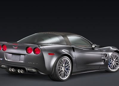 cars, concept art, vehicles, Chevrolet Corvette, rear angle view - related desktop wallpaper