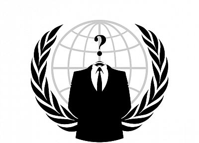 Anonymous, suit, question marks - related desktop wallpaper