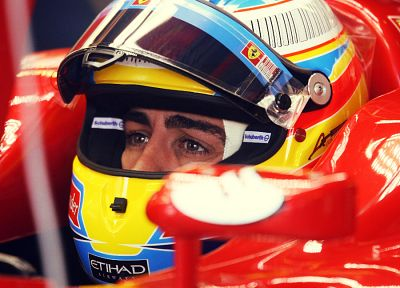 eyes, Ferrari, Formula One, Italy, Fernando Alonso - desktop wallpaper