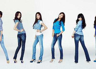 women, jeans, Girls Generation SNSD, celebrity, high heels - desktop wallpaper
